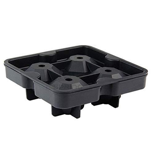 Amoyer Cuisine Ice Cube Plateaux Forme 3D Diamond Ice Cube Moule en Silicone Flexible Ice Maker