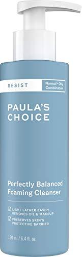Paulas Choice Resist Antiedad Espuma Limpiadora Facial - Combate los Puntos Negros, Poros y Imperfecciones - con Ácido Hialurónico - Pieles Mixtas a Grasas - 190 ml