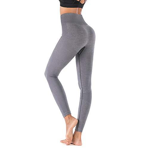 Yoga Push Up Mujeres Pantalones de Yoga Leggings de Gimnasio Pantalones Deportivos de Cintura Alta Entrenamiento Correr Leggings Leggings de Fitness Leggings de Yoga Gris
