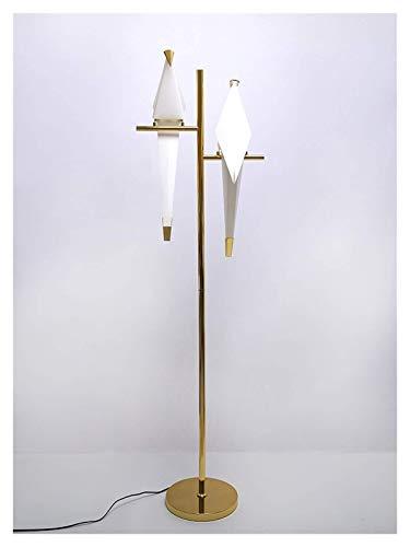 ZCYXQR Lámpara de pie, lámpara de pie de Papel de pájaro, lámpara de pie Dorada Moderna para el hogar, Dormitorio, Sala de Estar, luz de Suelo de Origami al Lado de la lámpara