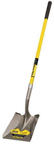 Truper 31199 Tru Pro 48-Inch Square Point Shovel, Fiberglass Handle, 10-Inch Grip