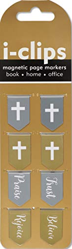 Faith i-clips Magnetic Page Markers (Set of 8 Magnetic Bookmarks)