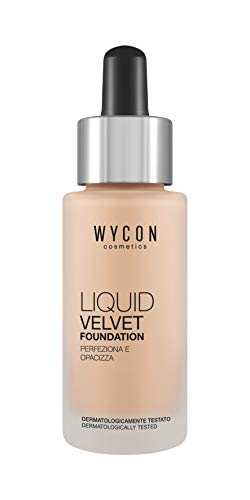 WYCON cosmetics LIQUID VELVET FOUNDATION texture leggera e setosa (NW20)