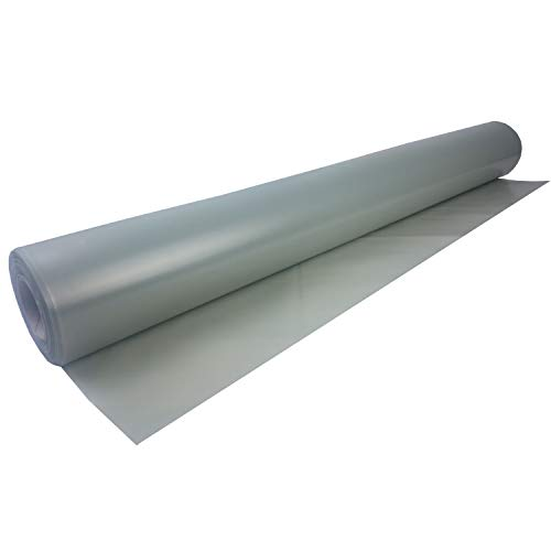 uficell Aqua-Stopp Baufolie - PE-Folie - Dampfbremse Stärke 0,12 mm (120 µ) unter Laminat-/ Kork-/ Parkettböden bei erhöhter Restfeuchte bzw. Einsatz einer Warmwasser Fußbodenheizung - Sie kaufen 1 Rolle mit 50 m²