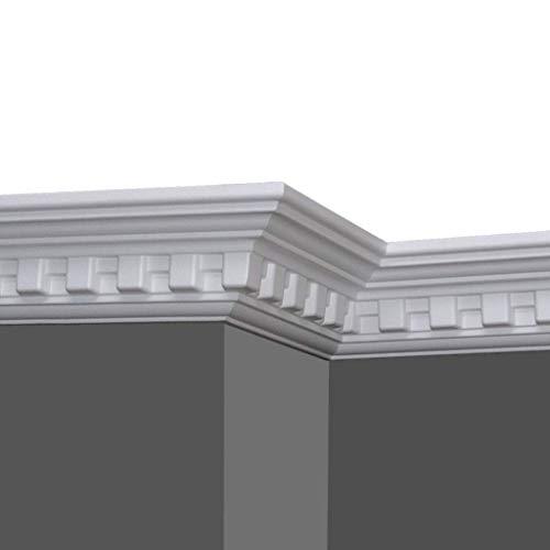 A la Maison Ceilings GK17pw-5 Dentil DIY Glue-up Foam Crown Molding (Pack / 32.5 ln. ft.), White