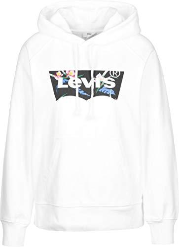 Levi's Damen Graphic Sport Kapuzenpullover, White (Hoodie Filled Bw T2 White+ 0119), Small