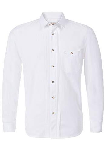 Stockerpoint Herren Mika2 Trachtenhemd, Weiß (Weiß), Large