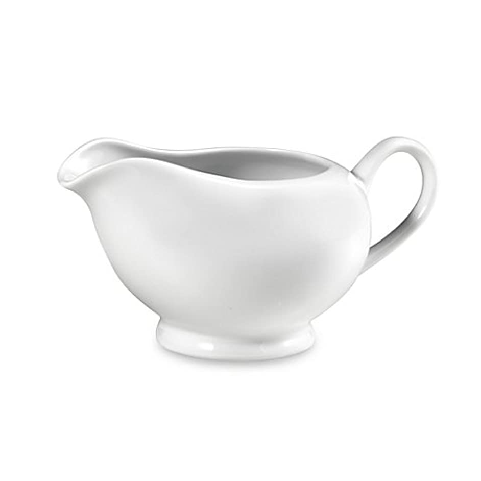 Everyday White Gravy Boat made of Porcelain
