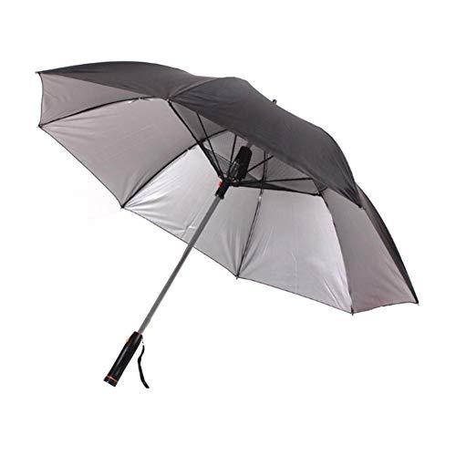 Regenschirm Regenschirm Mit Ventilator USB-Stiel Sun - Proof Regenschirm UV-Schutz Sonnenschirm Mit Ventilator Kühlen Regenschirm (Color : Black)