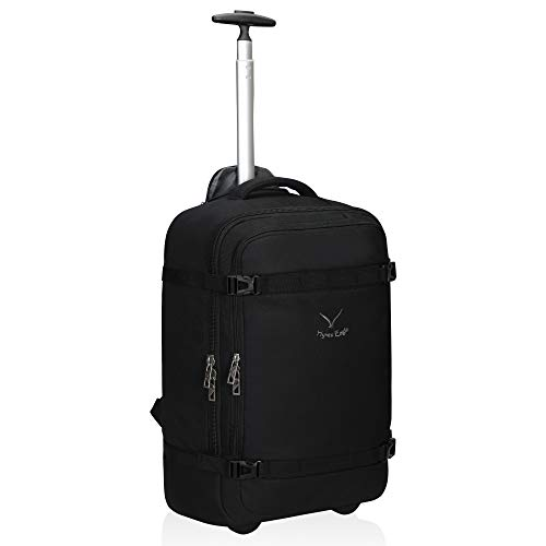 Hynes Eagle 42L Rolling Backpack Wheeled Backpack Flight Approved Travel Backpack Carry on Luggage...