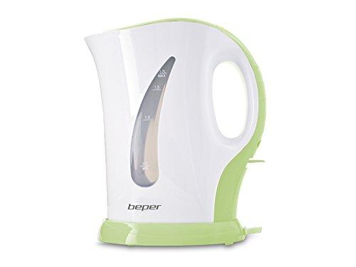 BEPER Bouilloire électrique de 1,5 litre en plastique Verte/Orange