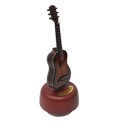 Mini viool gitaar harp rotatie muziekdoos houten muziekinstrument model creatieve Artware huisdecoratie