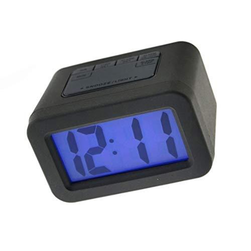 Elektronische wekker Elektronische wekker verstelbare groot scherm duidelijk zichtbaar bed kantoor makkelijk mee te nemen (Color : Black)