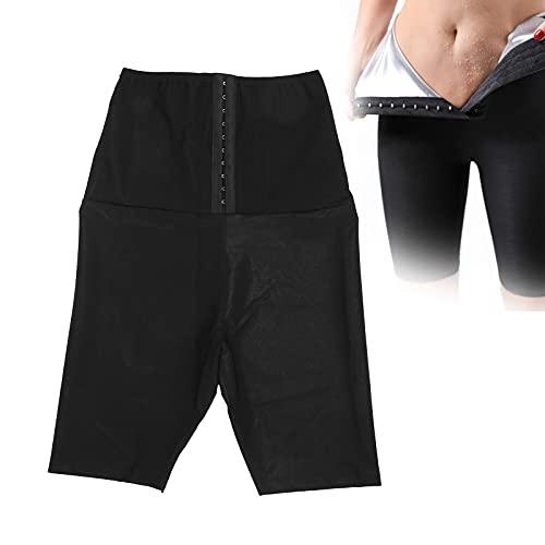 ZJchao Fajas de Sudor, Pantalones Cortos de Sudor de Sauna para Mujeres, Pantalones Cortos de Cintura Alta con Botones para Levantar glúteos, Pantalones para Mujeres, Sauna, Yoga, Gimnasio(2XL/3XL)