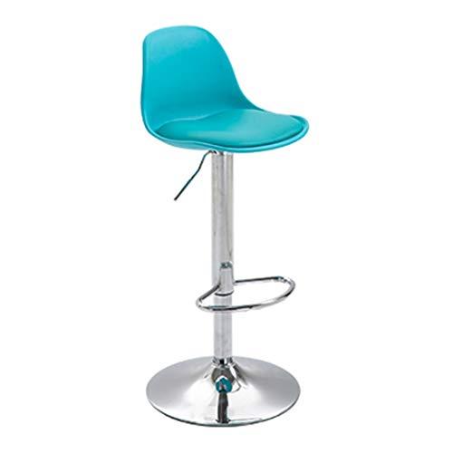 JQQJ bartafel met barkruk, ergonomische rugleuning, draaiende barkruk, verdikkingskussen, rond, voetenbank, hoge stoel