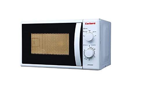 Corbero CMIC20MGW Microondas sencillos 20L, 1000 W, Giratorio, Blanco