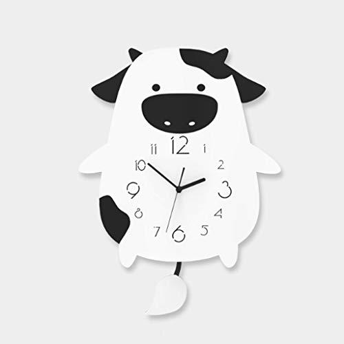 Aiglen Reloj De Mesa De Dibujos Animados Lindo Acrílico Silent Kid Room Sky Desk Desk Reloj Creativo Diseñador Horloge Decoración De Hogar Reloj (Size : 21x30.5CM)