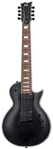 ESP LTD EC-258 8-String Electric Guitar, Black Satin