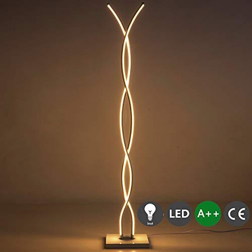 LED Stehlampe Dimmbar Standleuchte Metall 40w warmweiß-Kaltweiß Stehleuchte mit gebogenen...