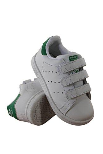 adidas Originals Baby Stan Smith CF I Running Shoe, White/Green, 7 M US Infant