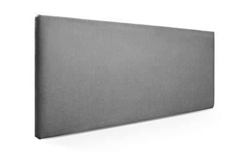 SUENOSZZZ-ESPECIALISTAS DEL DESCANSO Cabecero de Cama Liso tapizado en Tela para Camas de 135 (145 x 57 cm) Tela Gris
