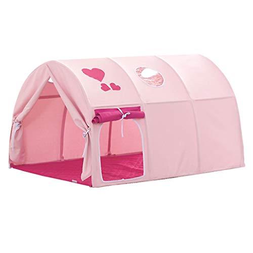 Tiendas de Niños Tienda De Cama para Niños, Tienda De Juegos para Niños Y Niñas Fácil De Instalar, Espacio Privado para Niños, Soporte De Fibra Y Tela Oxford, 100x140x70cm (Color : Pink)