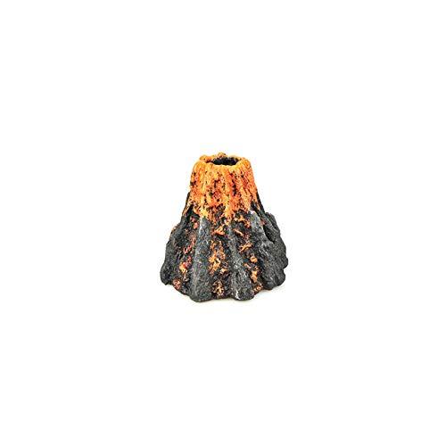 ZTING Kit de adorno de forma de volcán artificial para acuario, decoración de peces, bomba de oxígeno, bomba de aire, piedra de accionamiento de peces, adorno de juguete - Estilo 2