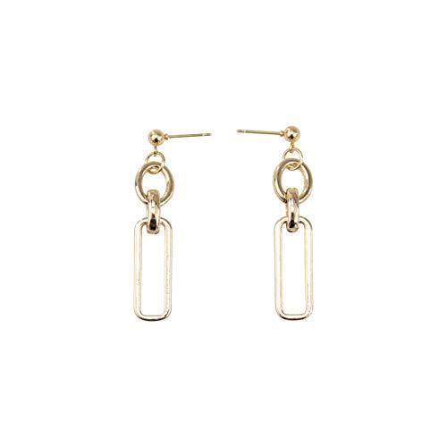 Eenvoudige geometrische ketting oorbellen mode wilde metalen temperament oorbellen straat schiet tij mensen kleine oor sieraden