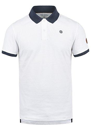 Blend Ralf Herren Poloshirt Polohemd T-Shirt Shirt Mit Polokragen Aus 100% Baumwolle, Größe:M, Farbe:White (70002)