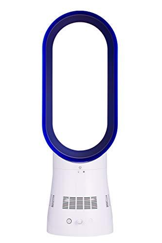 Tower ohne Lüfter - elektrischer Lüfter für Zuhause und Büro, sicher für Kind und Haustier (weiß und blau)