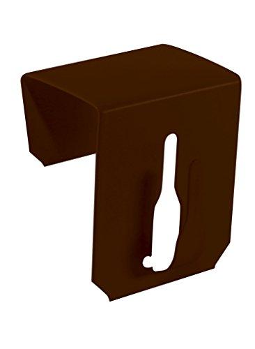 Dekohaken24 - Gancio per finestra, 17-20 mm, 4 pezzi, colore marrone