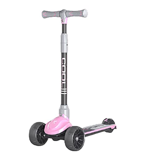 patinetes Scooter, Chasis Robusto, Capacidad De Carga Fuerte, Diseño Plegable De Una Tecla para Un Fácil Almacenamiento(Color:Rosado)