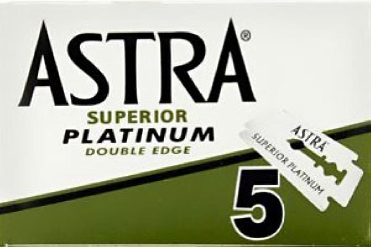 リーフレットウェイド禁止するASTRA Superior Platinum 両刃替刃 5枚入り(5枚入り1 個セット)【並行輸入品】