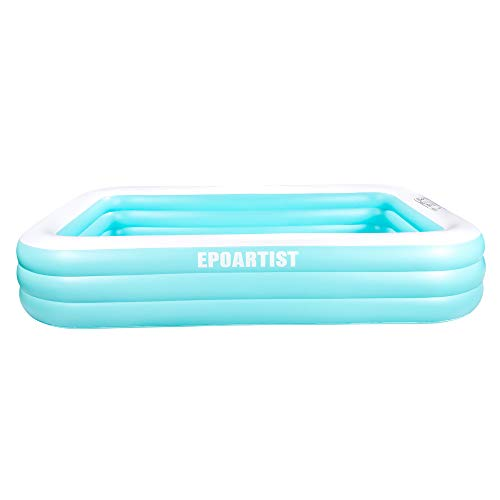 "EPOARTIST Family Inflatable Swimming Pool, 120"" X 72"" X 22"" Full-Sized Inflatable Lounge Pool for Baby, Kiddie, Kids, Adult, Infant, Toddlers for Ages 3+,Outdoor, Garden, Backyard"