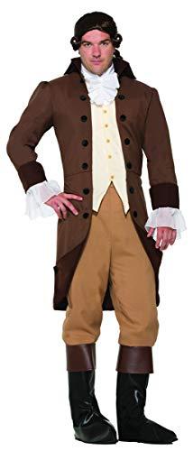 Forum Novelties 78004 Men's Colonial Gentleman Patriotic Costume, Standard, Brown