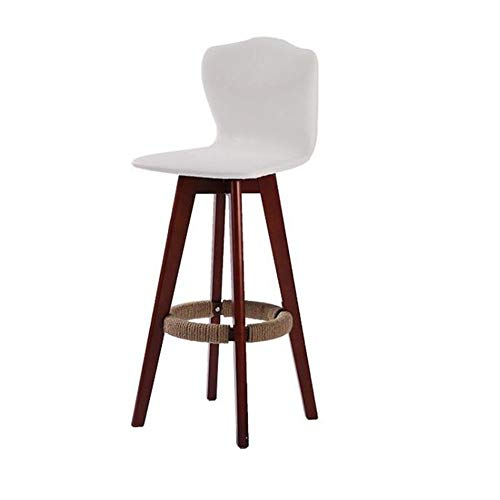 NAN liang Tabouret de bar à hauteur de comptoir en bois massif, siège pivotant à 360 °, tabourets de bar tournant pour la cuisine, petit-déjeuner bar (Couleur : White-02, taille : H71CM)