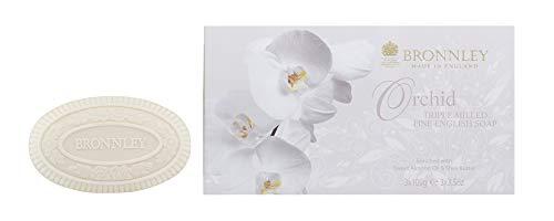 Bronnley duftende handgemachte Seife - Orchid Triple Milled Soap - in Geschenkbox 3x100 g