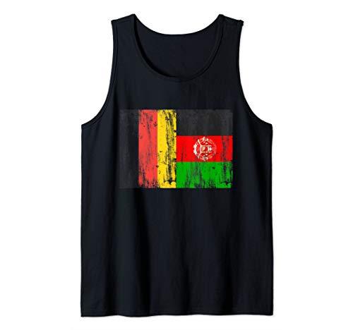 Deutschland und Afghanistan Afghanisch Afghan Fahne Flaggen Tank Top