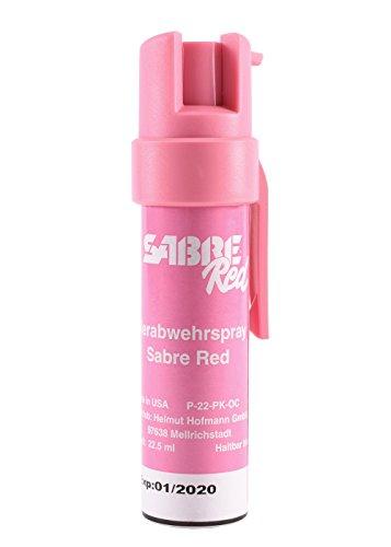 Sabre Red - Pfefferspray - POCKET - mit Clip, Pink, 22 ml Verteidigungsspray Tierabwehrspray