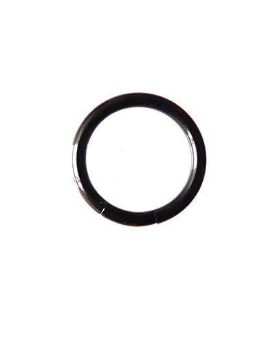 PLC-SE15/Piercing Dreams–Anillo 1,2x 10mm Titanio Anodizado Negro