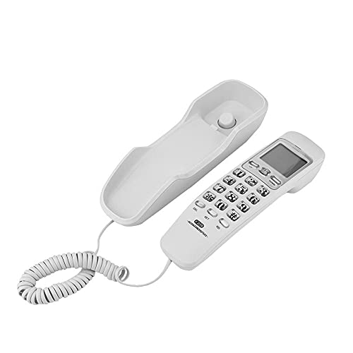 LYQQQQ Mini Escritorio de teléfono con Cable teléfono Fijo teléfono montado en la Pared con Llamada de Llamada entrante Cancelación de Ruido para Office Hotel Home (Color : White)