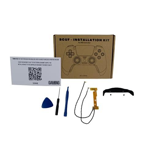 J&D Gaming™ - Scuf Installation Kit für PS5 Controller,mit passenden Werkzeugen,fertig gelöteter Remapper mit hochwärtigen Alu-Tastern,mit passendem Paddl,Videoanleitung zum Umbau,Controller-Zubehör