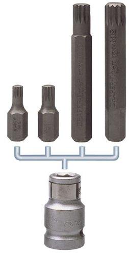 Draper 12769 Expert Multi-Spline - Juego de puntas y portapuntas (1/2', 5 piezas)