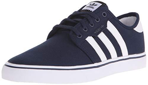 adidas Originals Men's Seeley Running Shoe, Collegiate Navy/White/Blue, 9 M US
