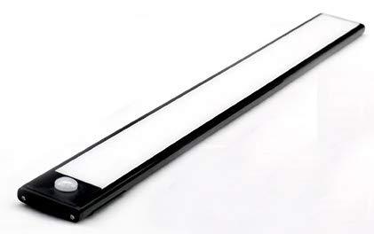 Klighten 3 Pcs Luz Armario 53 LED, 30CM, USB Recargable Luces Armario con Sensor Movimiento, 3 Modos Lámpara LED de Armario con Tira Magnética, Luz Nocturna para Cocina Escalera, Blanco Frio, Plata