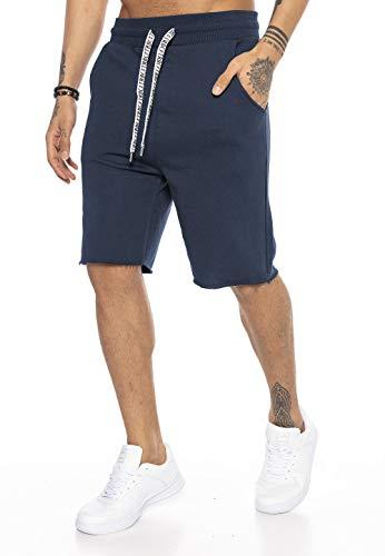 Redbridge Herren Shorts Kurze Hose Sweatpants Jogger Jogginghose Sporthose Dunkelblau XXL