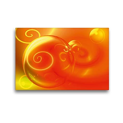 CALVENDO Toile murale en tissu 45 cm x 30 cm avec impression sur toile en verre Rouge Impression sur toile véritable Impression sur toile 3D