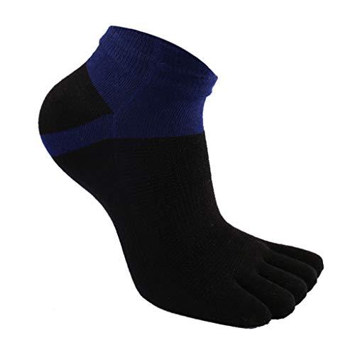 GXSox Orteil Sox 6 Packs Sport Chaussettes Courir Sweat Absorbant Respirant Cinq Toe Chaussettes d'été Coton Short Hommes Chaussettes Orteils (Couleur : Noir)