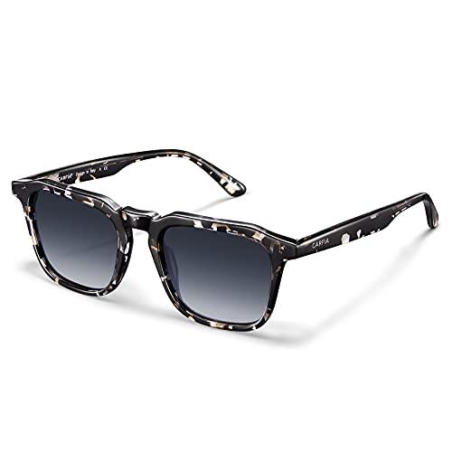 Carfia Gafas de Sol Hombre y Mujer Polarizadas UV400 Protección Acetato Marco Glasses para Conducir, al aire libre, Moda