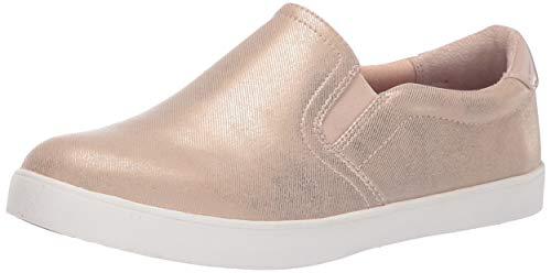 Dr. Scholl's Shoes Women's Metallic Denim Sneaker, Beach, 10